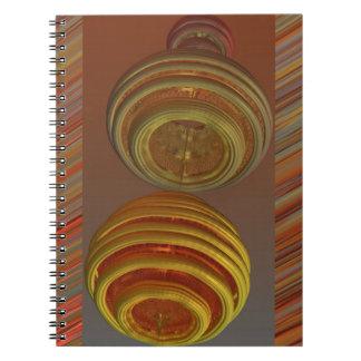 ZERO GRAVITY HONEY MANDELBULB 3D SPIRAL NOTEBOOK