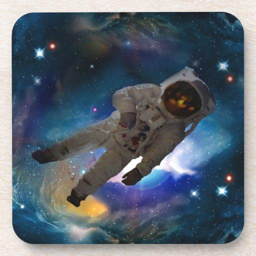 Zero gravity in space beverage coaster