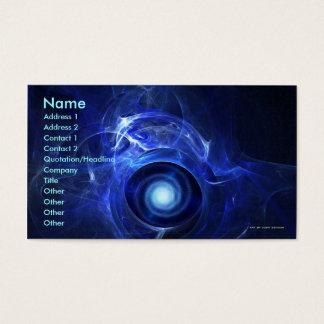 Zero Gravity Turbine Business Card Template