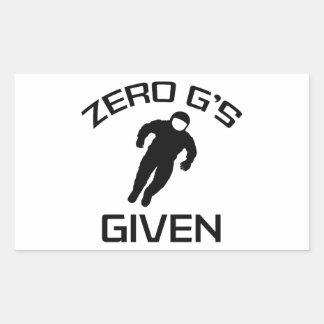 Zero G's Given Rectangular Sticker