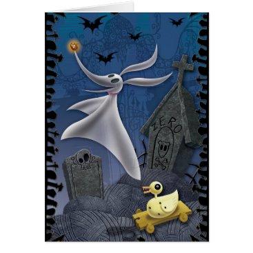 Disney Themed Zero | Haunting the Cemetery Card