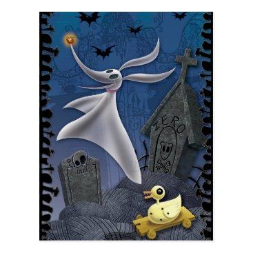 Disney Themed Zero   Haunting the Cemetery Postcard