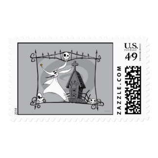 Zero in the Cemetary Postage Stamp
