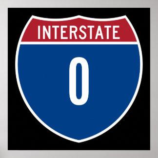 Zero Interstate Poster