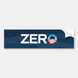 """Zero"" Obama Bumper Sticker Car Bumper Sticker"