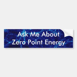 Zero Point Energy Promo Product Bumper Sticker