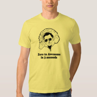 ZERO TO AWESOME IN 3 SECONDS TEES