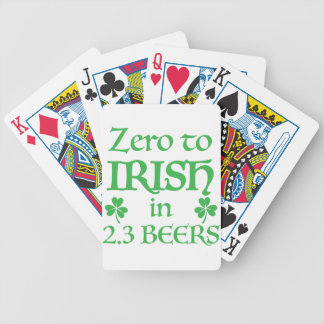 zero to irish in 2.3 beers bicycle playing cards