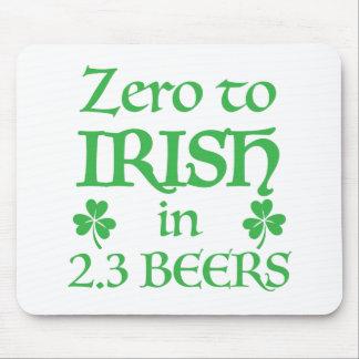 zero to irish in 2.3 beers mouse pad