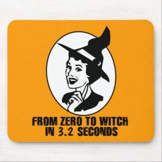 Zero to Witch 50's Style(B&W) Mousepads