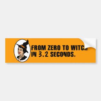 Zero to Witch 50's Style (Color) Bumper Sticker