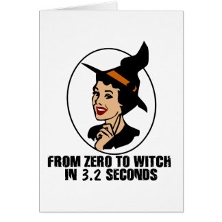 Zero to Witch 50's Style (Color) Greeting Cards