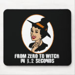 Zero to Witch 50's Style (Color) Mouse Pad