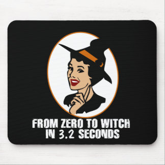 Zero to Witch 50's Style (Color) Mousepad