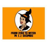 Zero to Witch 50's Style (Color) Post Cards