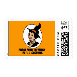 Zero to Witch 50's Style (Color) Stamp