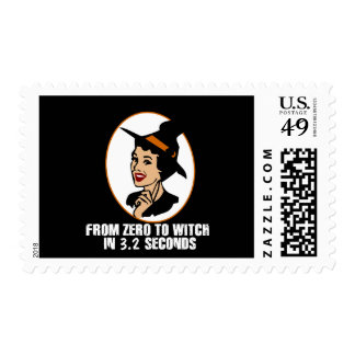 Zero to Witch 50's Style (Color) Postage Stamps