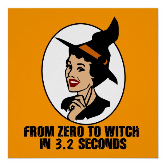 Zero to Witch 50's Style (Color) Poster