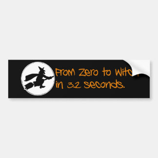 Zero to Witch Silhouette Style Bumper Sticker