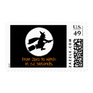 Zero to Witch Silhouette Style Stamps