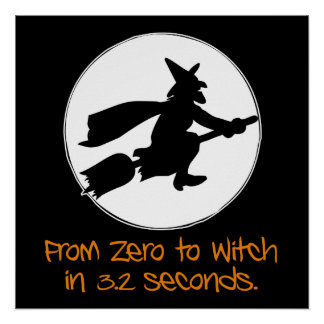 Zero to Witch Silhouette Style Poster