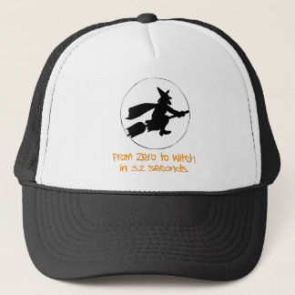 Zero to Witch Silhouette Style Trucker Hat