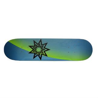 Zerodraline Green-Blue Aurora Skate Board Deck