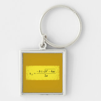 Zeros parabola zero parable Silver-Colored square keychain