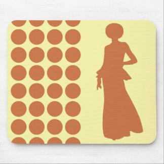 Zest Cream Neutral Dots Fashion Silhouette Mouse Pad