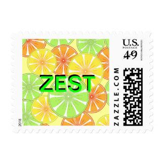 Zest For Life Summer Citrus Fruits Stamp