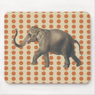 Zest Spice Moods Dots with Elephant Mouse Pad