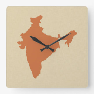 Zest Spice Moods India Square Wall Clock