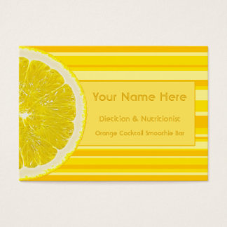 Zesty Citrus Lemon and Stripes Business Cards