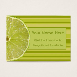 Zesty Citrus Lime and Stripes Business Cards