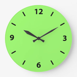 Zesty Key Lime Color Large Clock