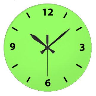 Zesty Key Lime Color Large Clock