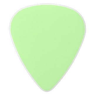 Zesty Key Lime Color White Delrin Guitar Pick