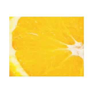 Zesty orange. canvas print