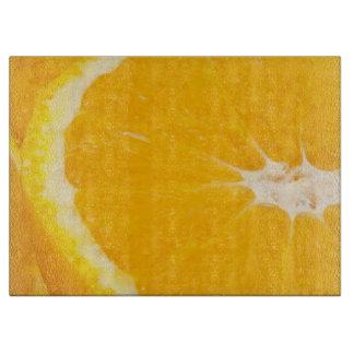Zesty orange. cutting board