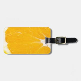 Zesty orange. luggage tag