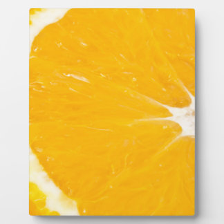 Zesty orange. plaque