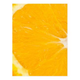 Zesty orange. postcard