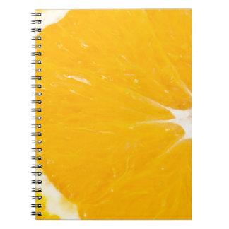 Zesty orange. spiral notebook