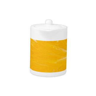 Zesty orange. teapot