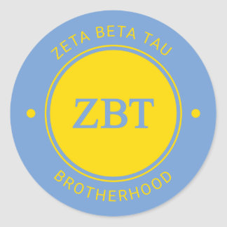 Zeta Beta Tau | Badge Classic Round Sticker
