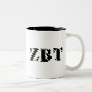 Zeta Beta Tau Black Letters Coffee Mugs