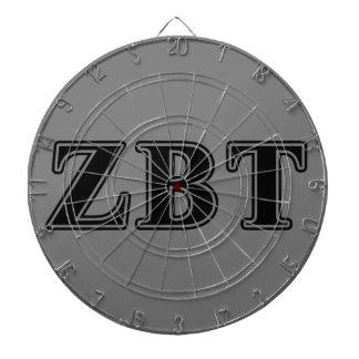 Zeta Beta Tau Black Letters Dartboard With Darts