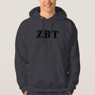 Zeta Beta Tau Black Letters Hoodie