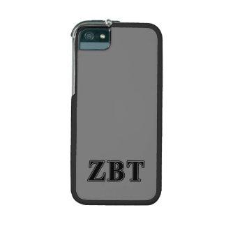 Zeta Beta Tau Black Letters iPhone 5/5S Cover