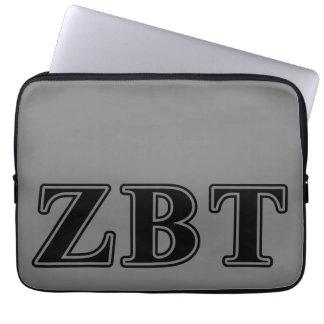 Zeta Beta Tau Black Letters Laptop Computer Sleeve